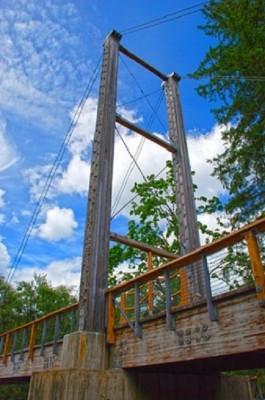 Brücke am Ende der Anlage