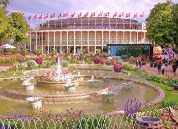 Neben Spaß und Action finden Besucher im Tivoli auch schöne Ruheplätze
