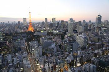 Der Fernsehturm befindet sich im Zentrum der japanischen Hauptstadt.