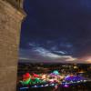 Blick auf das Winterfestival.