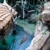 Im Krokodilsee leben vier Nilkrokodile.