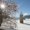 Auch im Winter ist der Turm ein eindrucksvoller Anblick.