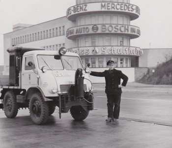 Das Mercedes-Benz Fahrzeug wurde nach 1945 entwickelt
