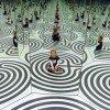 Perfekte Illusion im Spiegel-Oktogen