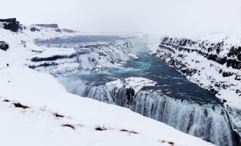 Der Wasserfall im Winter