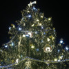 Der große Christbaum ist das Zentrum des Prager Weihnachtsmarktes.