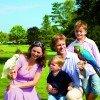 Familie im Weltvogelpark
