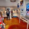 Blick in die Biathlon-Ausstellung im Wintersportmuseum.