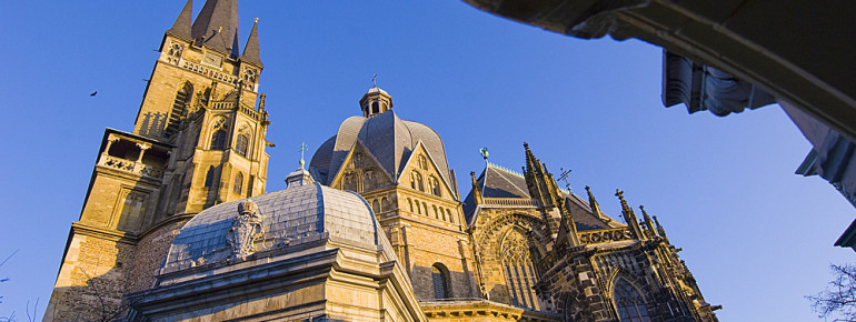 The cathedral was built by Charlemagne as an image of the heavenly Jerusalem.