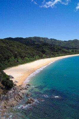 Stunning scenery: white, sandy beaches near Totaranui!