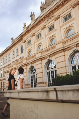 Albertina is located inside the Hofburg's largest residential palace.