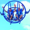 Sky Shot catapults you 90 metres into the air inside of a ball.