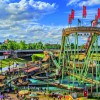 Skylie Park is home to the largest transportable water ride in the world.