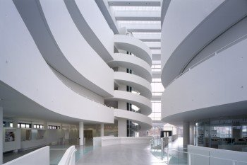 The modern architecture of the museum building inspires its visitors