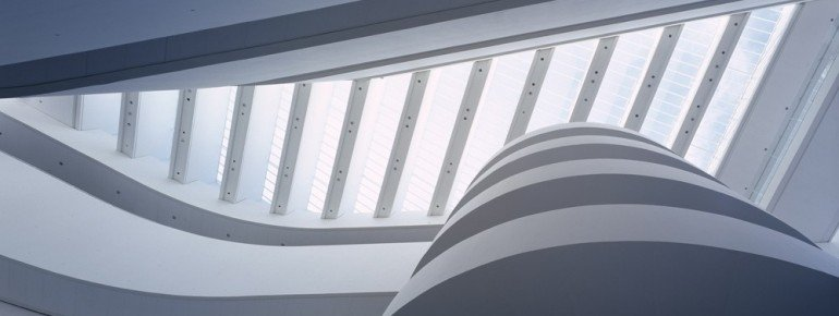 The ARoS museum building offers interesting perspectives