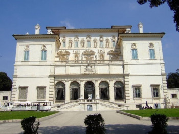 The Villa Borghese from the outside