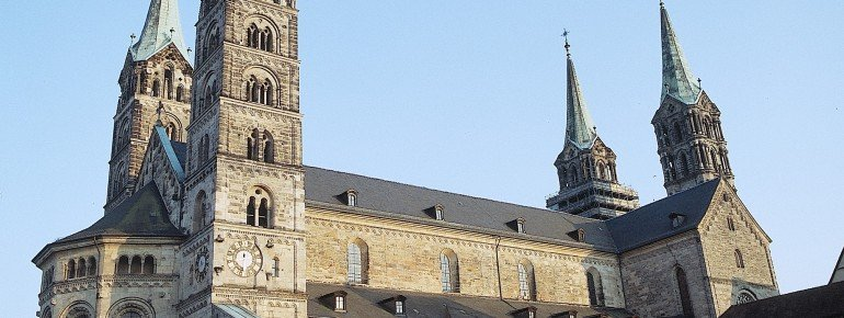 Bamberg Cathedral from the outside.