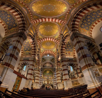 A look at the basilica from the inside
