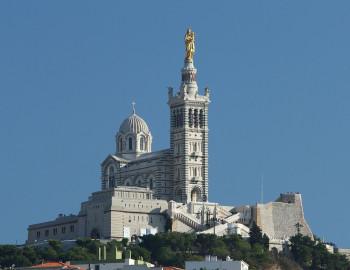 View on the Basilica Notre-Dame de la Garde