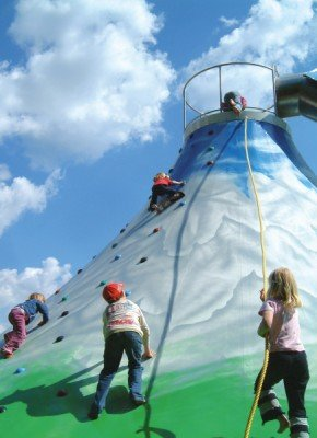 Climbing fun for the young visitors - climbing hill Zugspitz.