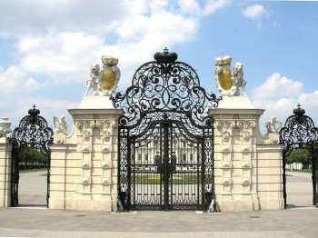 The main entry gate to Belvedere Castle.
