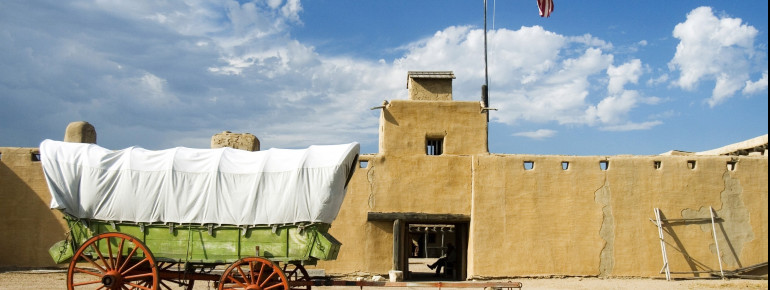 The Fort used to be an important trading post in the Southwest of the USA