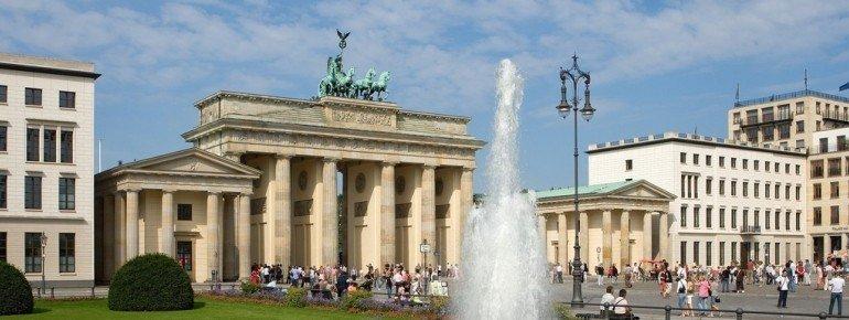Brandenburg Gate is Berlin's most important landmark.