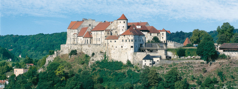View of Burghausen Castle, the longest castle complex in the world.