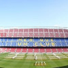 An inside view of the Camp Nou Stadium in Barcelona