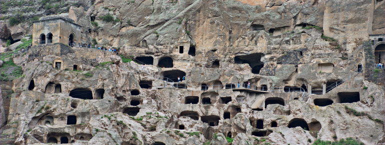 Vardzia originally provided space for up to 50,000 people.
