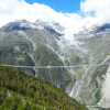 The bridge is part of a two-day hike between the towns of Zermatt and Graechen.