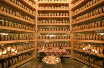The cheese grotto can be visited only as part of a guided tour.