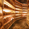 More than 3000 cheese wheels are stored in the cheese grotto.