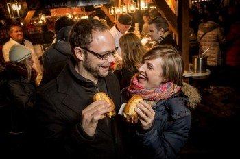 """Nuremberg's famous """"Rostbratwürstchen"""" can't be missing at the Christkindlesmarkt"""