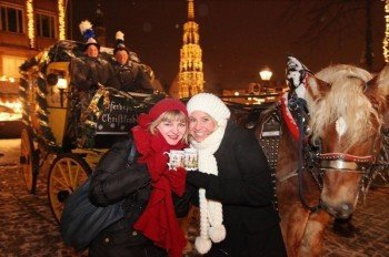 The stagecoach and mulled wine are essential parts of Nuremberg's Christkindlesmarkt