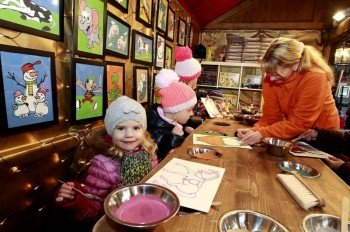 Painting and crafting with kids