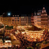 A view over the entire Christmas market in the evening