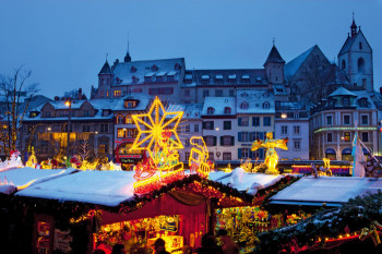 Basel's Christmas market at Barfüsserplatz and Münsterplatz is one of the best in Switzerland.