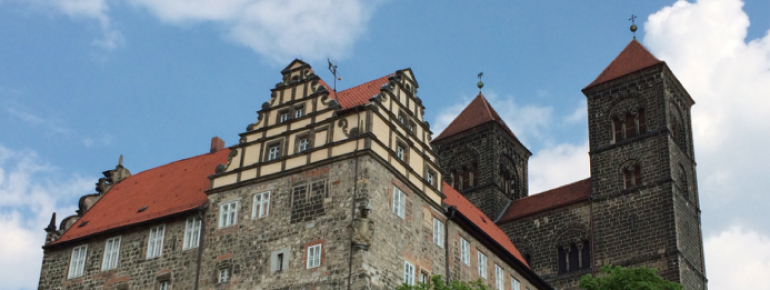 The Collegiate Church on top of Schlossberg above Quedlinburg