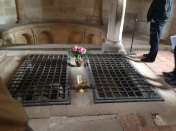 Saint Mathilda and King Henry I of Germany rest in peace here
