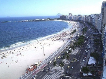 An aerial view on Copacabana