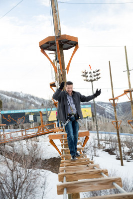 Utah Olympic Park offers three rope courses of varying difficulty.