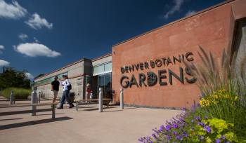 View of the entrance of Denver Botanic Gardens.