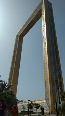 The Dubai Frame, a giant, gold-plated picture frame, is the emirate's latest enormous architectural venture.