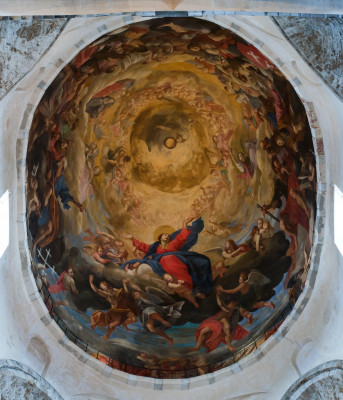 Ceiling fresco within the cathedral