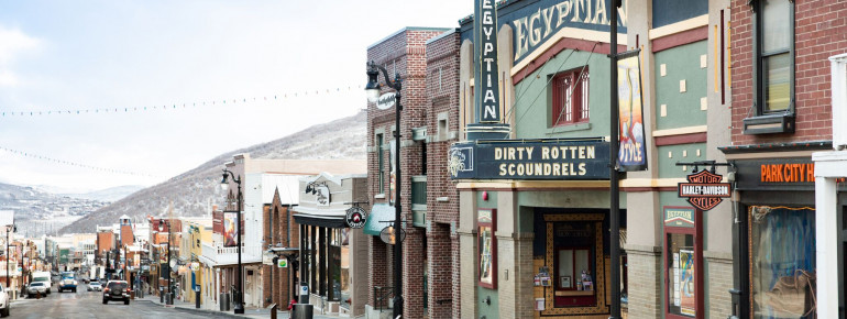 The historic Main Street in Park City.