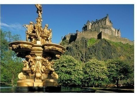 Enthroned high up on Castle Rock: Edinburgh Castle