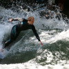River surfing is gaining more and more popularity.