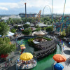 View of the amusement park with its attractions and events perfect for young and old alike.