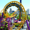 One of the thrill rides at Elitch Gardens Theme & Water Park in Denver, Colorado.